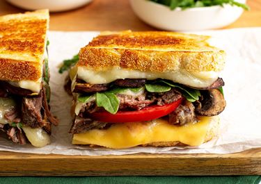 Short Rib & Mushroom Grilled Cheese Sandwich