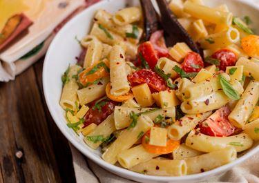 Spicy Pasta Salad With Arla Gouda Cheese