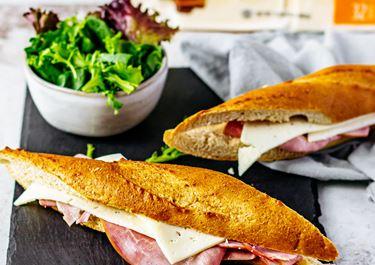 Parisian Baguettes With Ham and Havarti