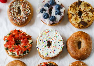 5 Delicious + Light Bagel Toppings with Cream Cheese