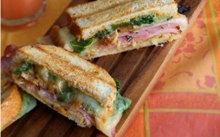 Grilled Rosemary Ham Sandwich with Walnuts, Figs & Havarti