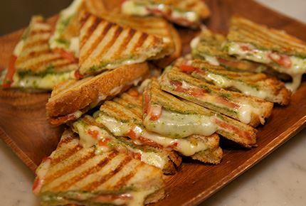 Havarti Tomato and Arugula Pesto Grilled Cheese