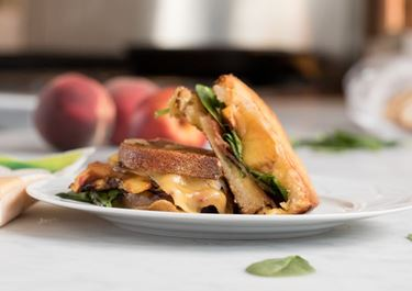 Tangy Balsamic Peach Gouda Grilled Cheese