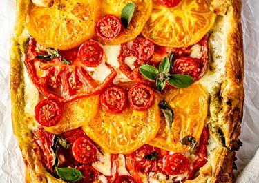 Summer Tomato and Havarti Tart