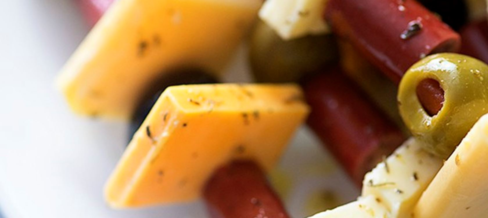 Marinated Cheese Skewers