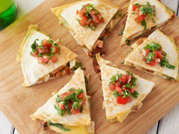 Chicken and Spicy Chorizo Quesadilla with Gouda