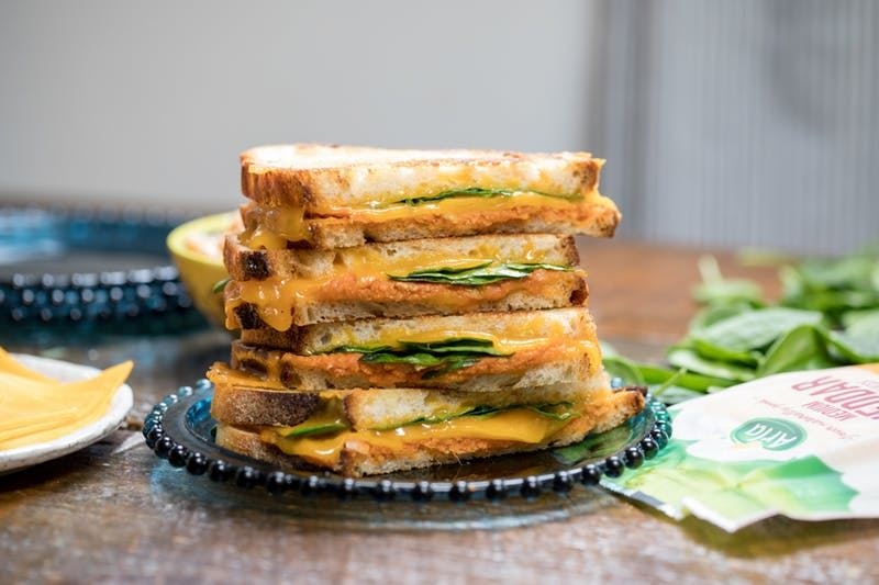 Chickpea Cheddar Grilled Cheese