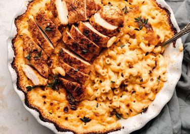 Chicken Mac and Cheese Bake
