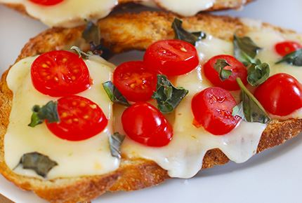 Open-Faced Caprese Tartine