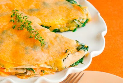Warm Spinach and Gouda Gateau