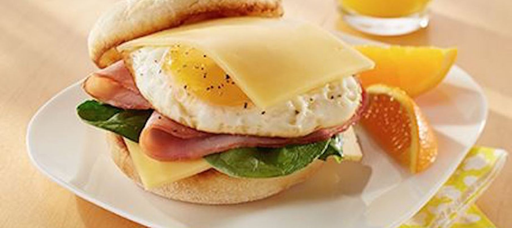 Havarti, Ham & Egg Breakfast Sandwich