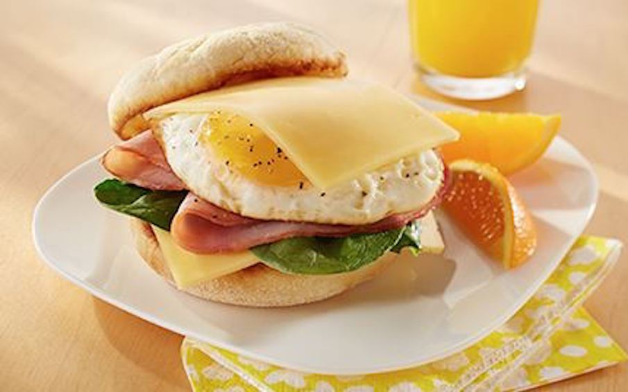 Havarti, Ham & Egg Breakfast Sandwich