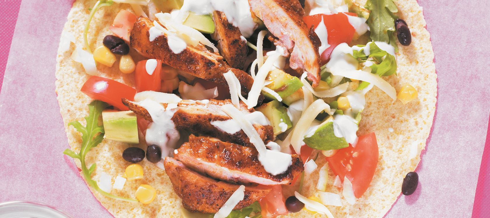Chicken Fajitas with Mango Dressing