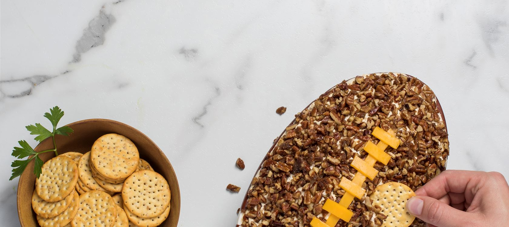 Pecan Crusted Herbs & Spices Cream Cheese Dip