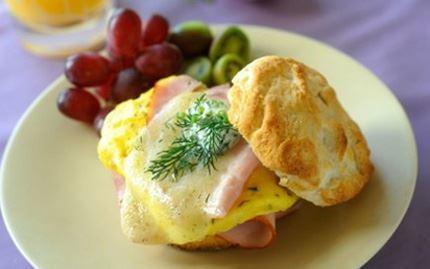 Breakfast Biscuit with Egg & Ham