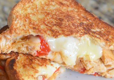 Havarti Chicken Fajita Grilled Cheese Sandwich
