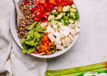 Lentil and Havarti Summer Salad