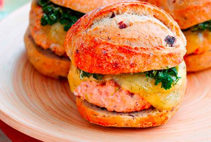 Salmon Burger with Chimichurri & Havarti