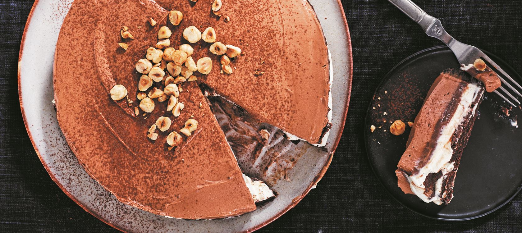 Chocolate Hazelnut Cheesecake with Vanilla