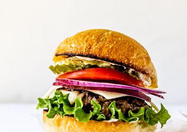 Havarti-Stuffed Burgers