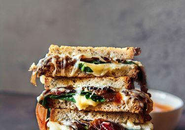 Caramelized Onion Cheese Toasties