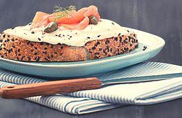 بروشيتا السلمون مع جبنة كريم من بوك