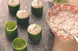 Cream Cheese and Smoked Salmon Cucumber Cups