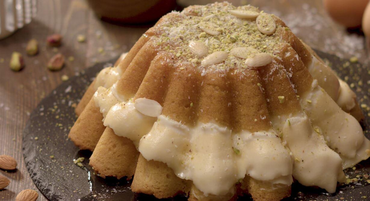 Basbousa with Puck All-purpose Cream