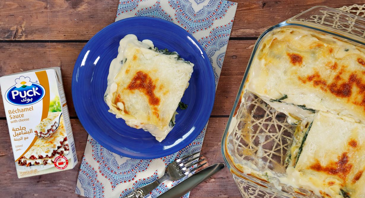 Spinach and Zucchini Lasagne with Bechamel Sauce
