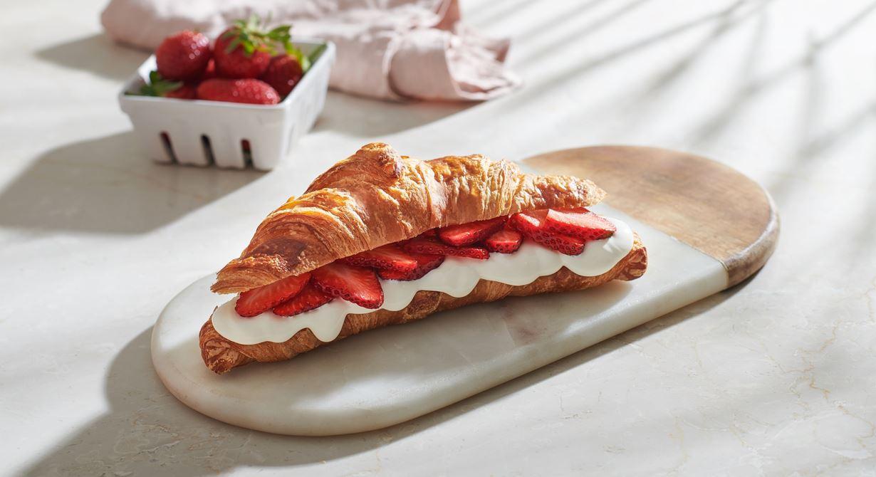 Strawberry Cream Cheese Croissant Sandwich