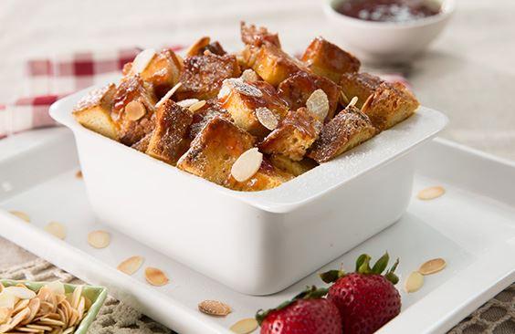 Strawberry Jam Breakfast Pudding
