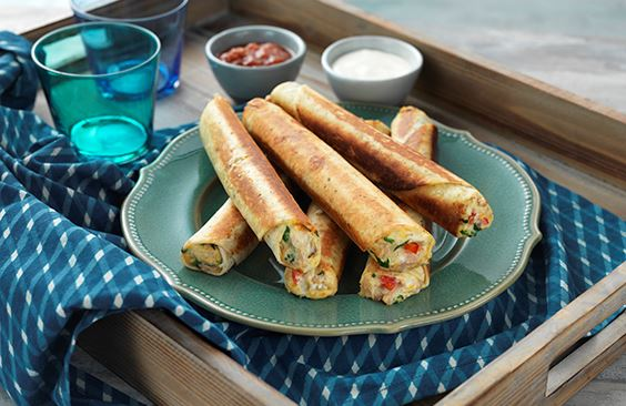 Cheese and Chicken Taquitos