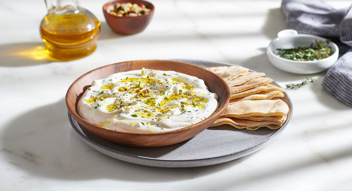 Puck Labneh Dip with Pistachio