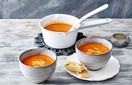 Roasted Red Pepper and Tomato Cream Soup