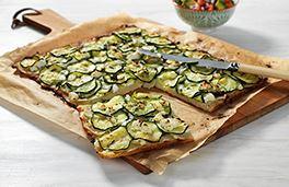 Zucchini and Potato Pizza