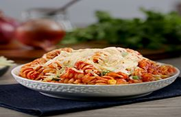 Pasta Bake with Cheese and Vegetables