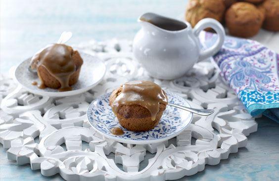Sticky Date Dessert Muffins with Caramel Sauce