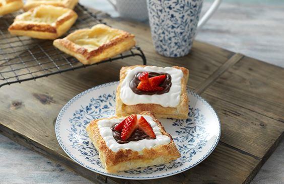 Cheese, Chocolate and Strawberry Danish