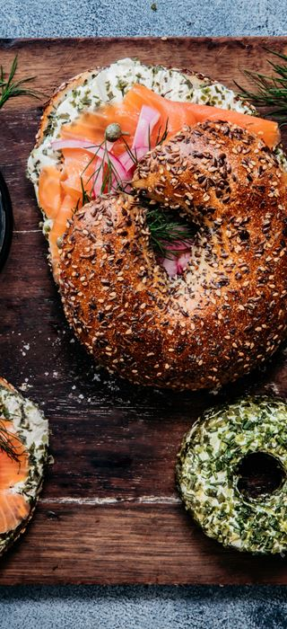 Bagel with Smoked Salmon & Castello Chive and Spring Onion Cream Cheese