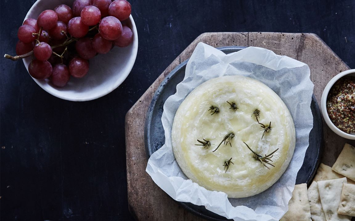 Baked Double Cream Brie with Rosemary