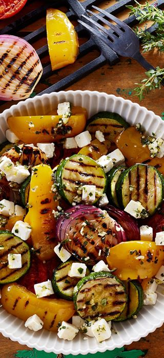 Chargrilled Vegetables with Citrus and Herbs Fetta