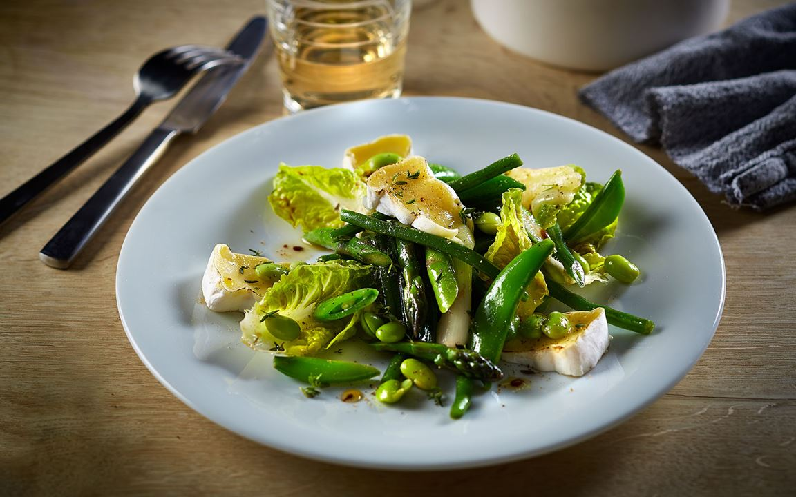 Summer Vegetables with Double Cream Brie