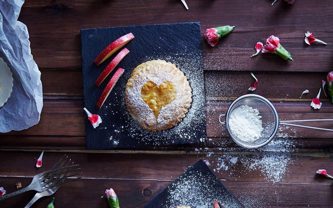 Sweet Pastries with Double Cream Brie & Dried Fruit