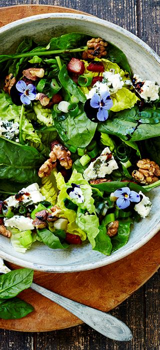 Violet Salad with Blue Cheese & Walnuts