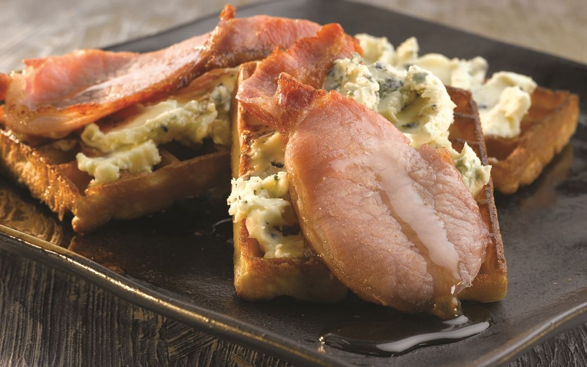 Bacon, Waffles & Blue Cheese