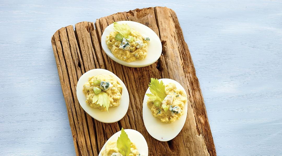 Blue Cheese Devilled Eggs