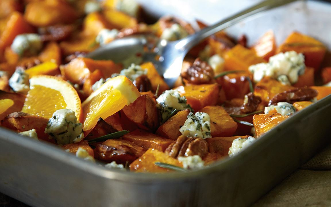 Butternut Squash, Pecans and Blue