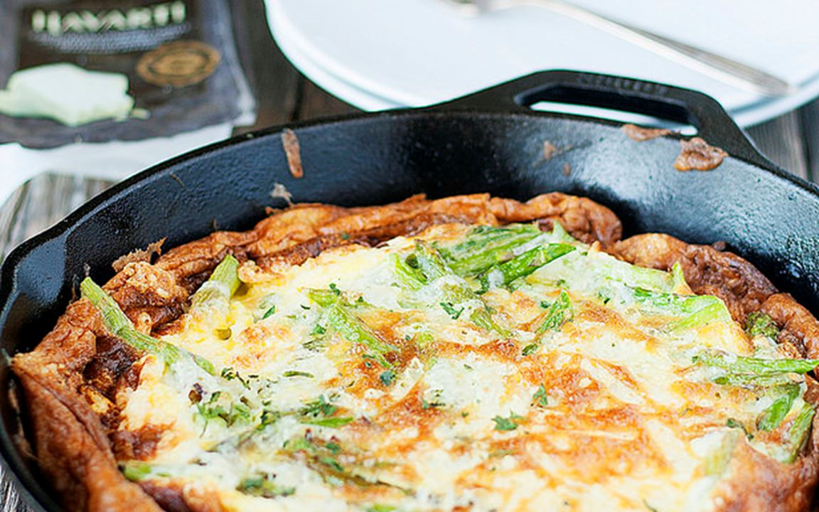 Castello Chateau Versailles Brie Frittata with Fresh Parsley