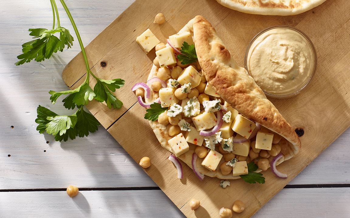 Chickpea and Cheese Flat Bread