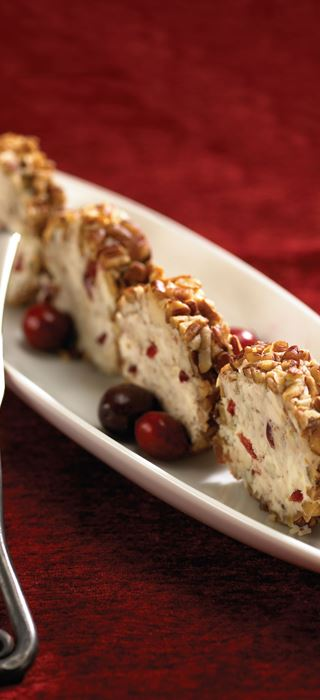 Mascarpone Cranberry Appetizer Roll